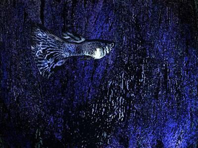 Blue Fish Art Print by Mario  Perez