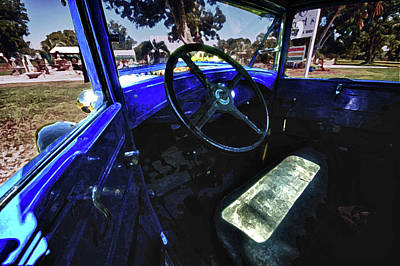 Blue Ford Interior Original by Michael Thomas