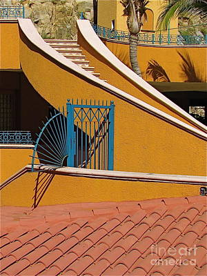 Grill Gate Photograph - Blue Gate - Cabo San Lucas by Sean Griffin