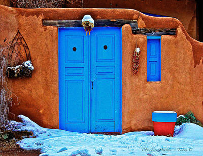 Blue Gate On The Plaza II Print by Charles Muhle