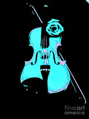 Violin Digital Art - Blue Grass Fiddle by Marsha Heiken