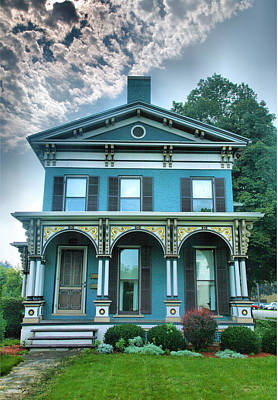 Finger Lakes Photograph - Blue Green House I by Steven Ainsworth