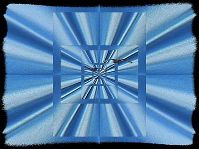 Pathway Digital Art - Blue Highway by Tim Allen