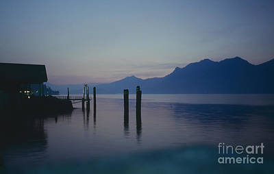 Blue Hour At Dawn On Lago Maggiore Print by Heiko Koehrer-Wagner