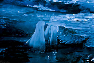 Blue Ice Print by Mitch Shindelbower