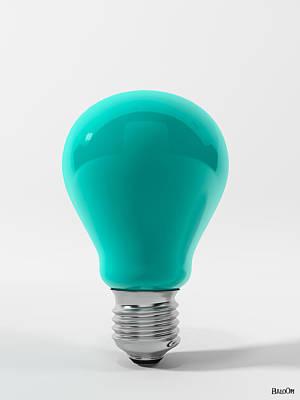Blue Lamp Print by BaloOm Studios