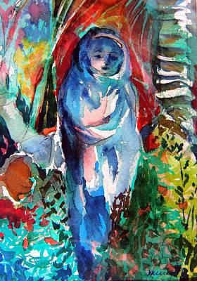 Blue Madonna Original by Mindy Newman