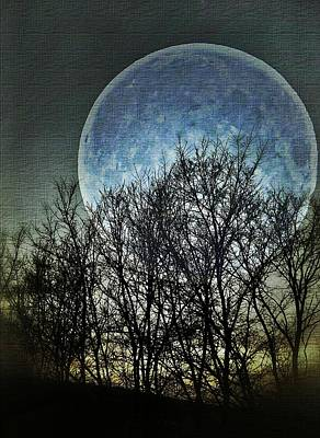 Blue Moon Print by Marianna Mills