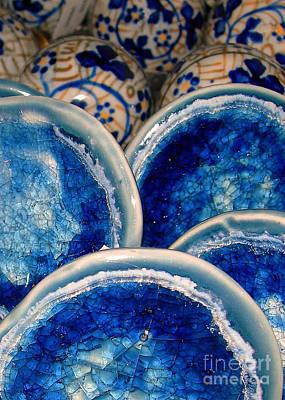 Blue On Blue Print by Judi Bagwell