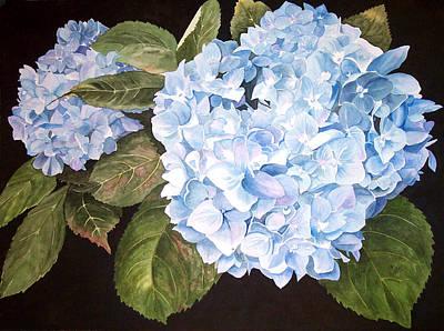 Blue On Blue Print by Karen Casciani