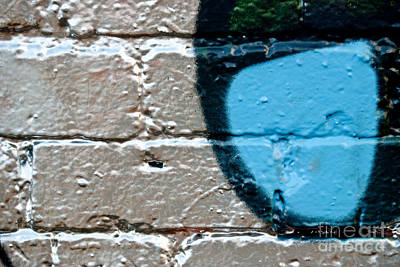 Silver Background Painting - Blue On Silver Graffiti by Yurix Sardinelly