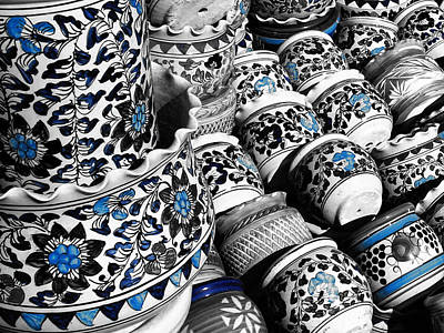 God Photograph - Blue Pottery Of India by Sumit Mehndiratta