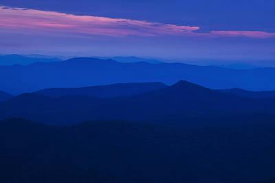 Twilight Views Photograph - Blue Ridge At Dusk by Andrew Soundarajan
