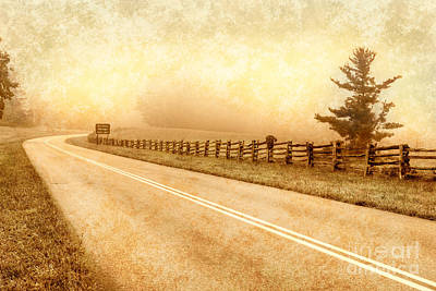 Artist Trading Cards Photograph - Blue Ridge Parkway At Northwest Trading Post II by Dan Carmichael