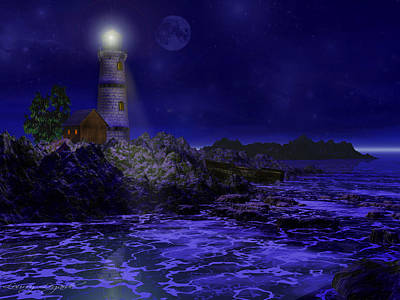 Lighthouse Photograph - Blue Serenity by Lourry Legarde