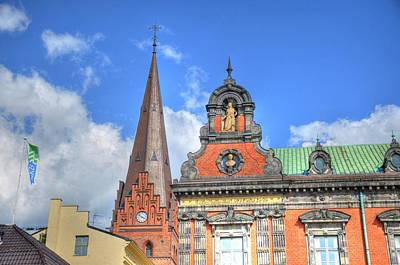 Hamburg Digital Art - Blue Skies by Barry R Jones Jr