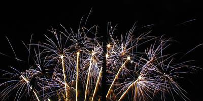 Blue Fireworks Photograph - Blue Star Fireworks by Denise Keegan Frawley