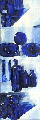 Blue Still Life Print by Hatin Josee