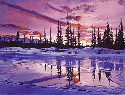 Impressionism Photograph - Blue Winter Sunrise by David Lloyd Glover