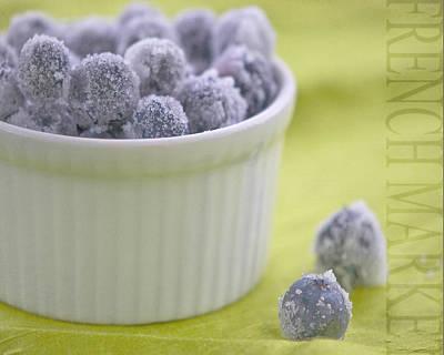 Blue Coat Photograph - Blueberries by Juli Scalzi