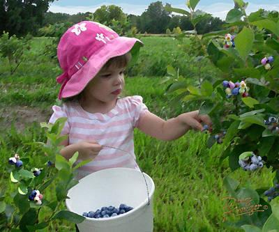 Blueberry Digital Art - Blueberry Girl by Doug Kreuger