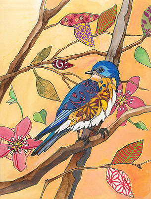 Bluebird Mixed Media - Bluebird Fancy by Marty Husted