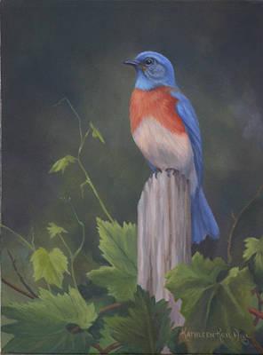 Bluebird Print by Kathleen  Hill