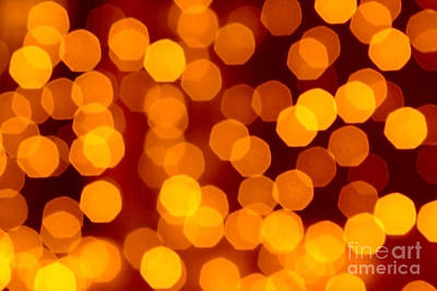 Blurred Christmas Lights Print by Carlos Caetano