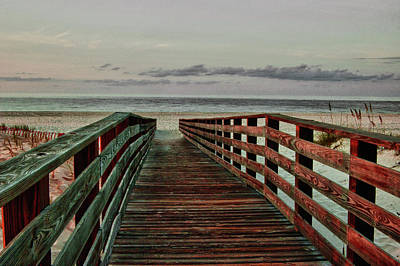 Boardwak Sunrise Print by Michael Thomas