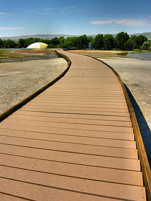 Thermopolis Photograph - Boardwalk Over Hot Springs I by Steven Ainsworth