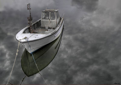 Photograph - Boat In The Clouds by Stephen EIS