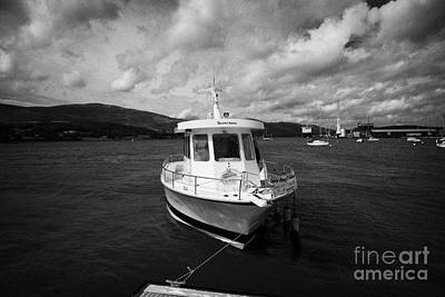 Boat Used As A Small International Passenger Ferry Crossing The Mouth Of Carlingford Lough Print by Joe Fox