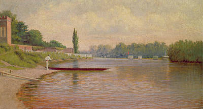 Scull Painting - Boating On The Thames by John Mulcaster Carrick