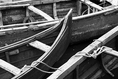 Boats In Cochin Print by Michael Warford