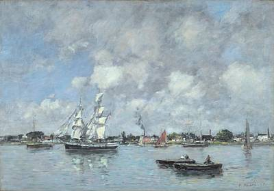 Bordeaux Painting - Boats On The Garonne by Eugene Boudin