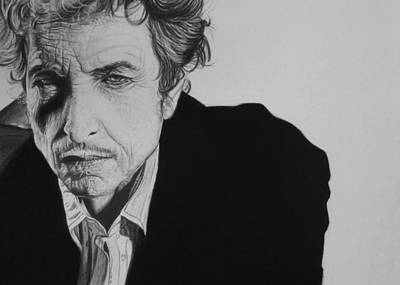 Bob Dylan Drawing - Bob Dylan by Steve Hunter