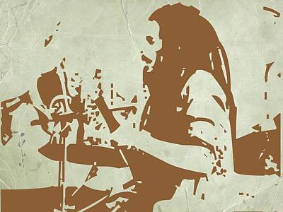 Rock Star Art Painting - Bob Marley Brown 1 by Naxart Studio