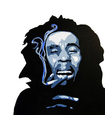 Bob Marley Abstract Painting - Bob Marley by Michael Ringwalt