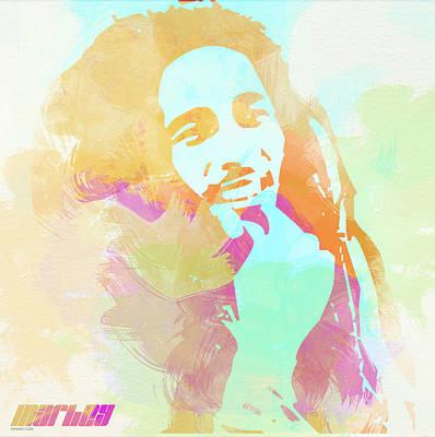Sheriff Painting - Bob Marley by Naxart Studio