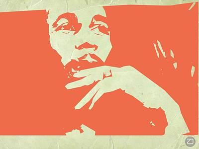 Rock Star Art Painting - Bob Marley Orange by Naxart Studio