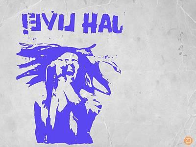Reggae Painting - Bob Marley Purple 2 by Naxart Studio