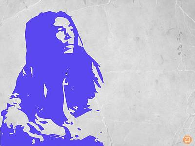 Bob Marley Purple Print by Naxart Studio
