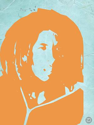 Rock Star Art Painting - Bob Marley Yellow 2 by Naxart Studio