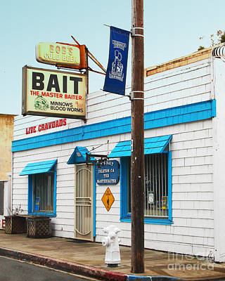 Crawdad Photograph - Bobs Bait Shop In Isleton California . The Master Baiter by Wingsdomain Art and Photography