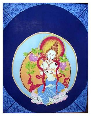 Buddha Tapestry - Textile - Boddhisatva by Elisabeth Van der Horst