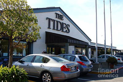 Bodega Bay . Town Of Bodega . The Tides Wharf Restaurant . 7d12412 Print by Wingsdomain Art and Photography
