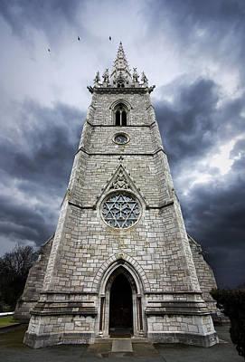 Gargoyle Photograph - Bodelwyddan Church by Meirion Matthias