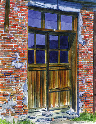 Ghost Town Painting - Bodie Door by Mark Jennings