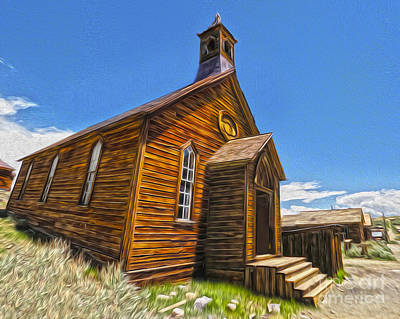 Bodie Ghost Town - Church 04 Print by Gregory Dyer