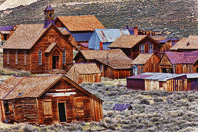 Bodie Ghost Town California Print by Garry Gay